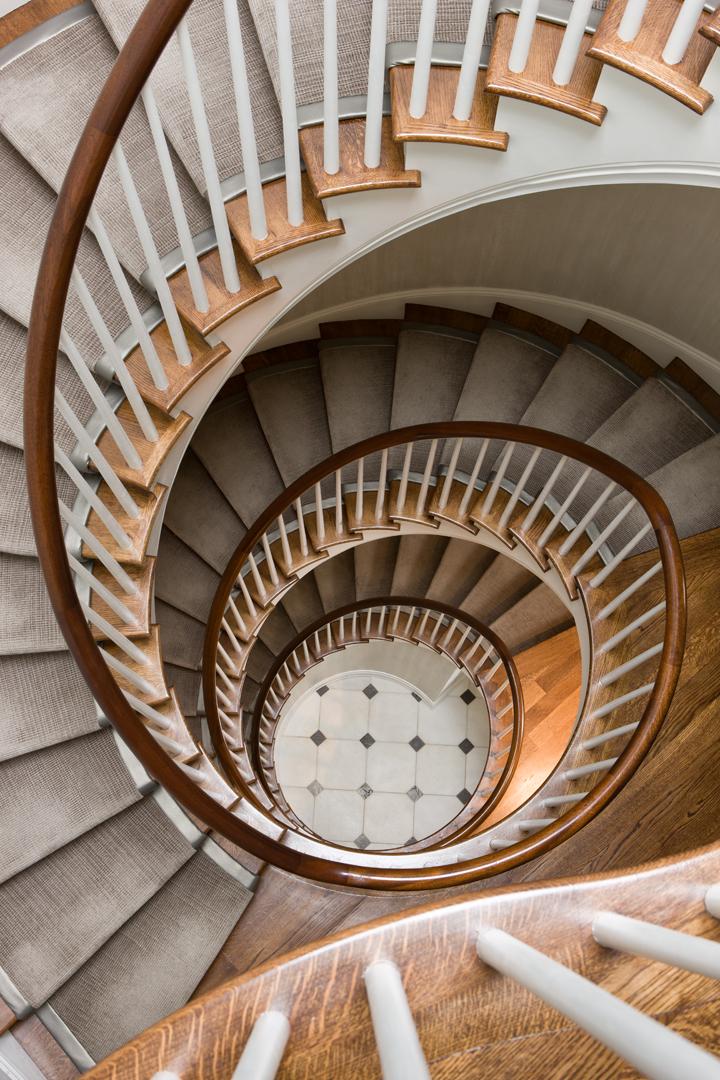 Circular Staircase in Kalorama townhouse
