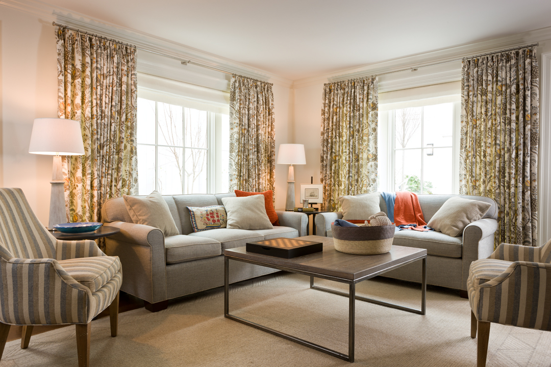 Family Room in Kalorama Townhouse
