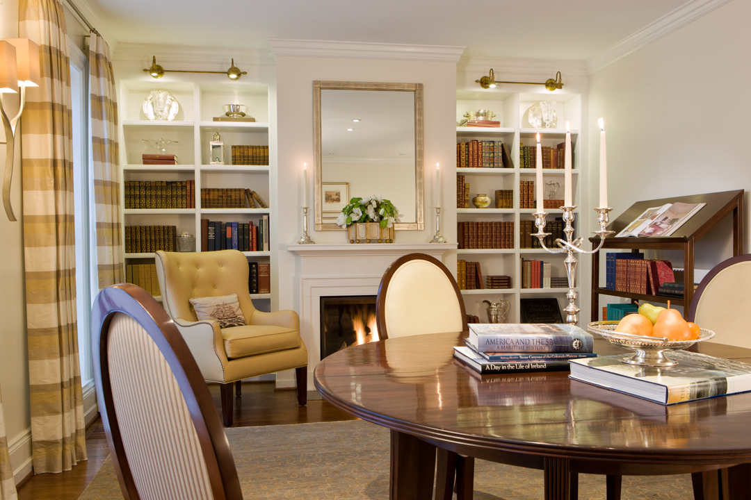 Dining Room/Library in Kalorama Townhouse